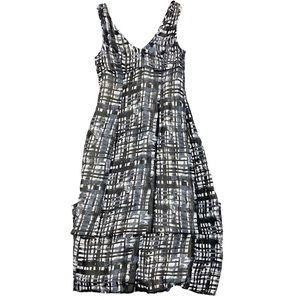 BCBGMaxAzria maxi dress black and white print